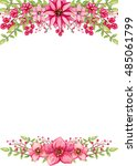 frame with watercolor bright... | Shutterstock . vector #485061799