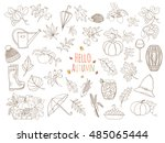 set of autumn elements can be... | Shutterstock .eps vector #485065444