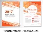vector brochure flyer design... | Shutterstock .eps vector #485066221