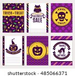 happy halloween  collection of... | Shutterstock .eps vector #485066371