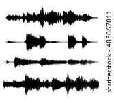 vector sound waves  set . | Shutterstock .eps vector #485067811