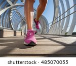 running shoes closeup of a... | Shutterstock . vector #485070055