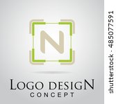 n letter logo in the square...