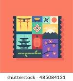 country japan  vector flat... | Shutterstock .eps vector #485084131