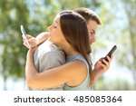 couple of cheaters hugging and... | Shutterstock . vector #485085364