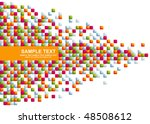 background from a mosaic | Shutterstock .eps vector #48508612