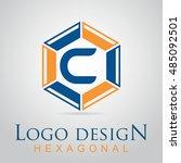 c letter in the hexagonal logo. ...