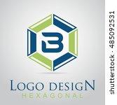 b letter in the hexagonal logo. ...