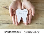 dentist appointment  paper cuts ...   Shutterstock . vector #485092879
