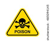 poison sign. vector | Shutterstock .eps vector #485094145