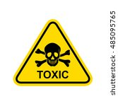 toxic sign.  | Shutterstock . vector #485095765