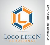 l letter in the hexagonal logo. ...