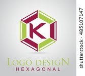 k letter in the hexagonal logo. ...