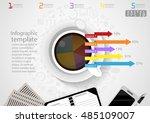 vector illustration infographic ... | Shutterstock .eps vector #485109007