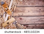 wooden planer  table from old... | Shutterstock . vector #485110234