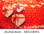 beautiful gift boxes in the... | Shutterstock . vector #485118451