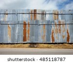 Galvanized Sheet Wall With Sky