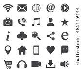 social media icon set. for... | Shutterstock .eps vector #485119144
