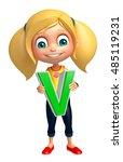 3d rendered illustration of kid ... | Shutterstock . vector #485119231