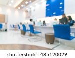 blur bank officer working with... | Shutterstock . vector #485120029