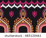 geometric ethnic oriental... | Shutterstock .eps vector #485120461