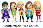 3d rendered illustration of kid ... | Shutterstock . vector #485120821