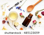 essential oil  medicinal plant... | Shutterstock . vector #485123059