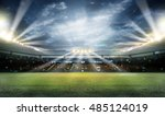 stadium in lights and flashes 3d | Shutterstock . vector #485124019