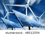 powerplant with photovoltaic... | Shutterstock . vector #48512554