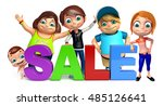 3d rendered illustration of kid ... | Shutterstock . vector #485126641