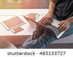 online marketing business in...   Shutterstock . vector #485133727