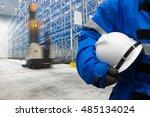 safety hardhat for dangerous... | Shutterstock . vector #485134024