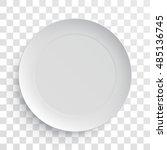 empty white dish plate... | Shutterstock .eps vector #485136745