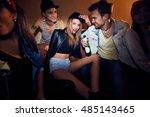 portrait of trendy young woman... | Shutterstock . vector #485143465