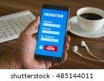 register membership application ... | Shutterstock . vector #485144011