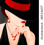 mysterious woman | Shutterstock . vector #48514657