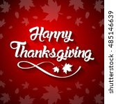 thanksgiving greeting card with ... | Shutterstock .eps vector #485146639