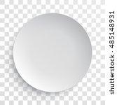 empty white dish plate... | Shutterstock .eps vector #485148931