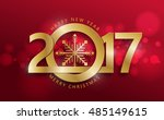 happy new 2017 year greeting... | Shutterstock .eps vector #485149615