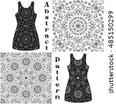 set seamless floral patterns ... | Shutterstock .eps vector #485150299
