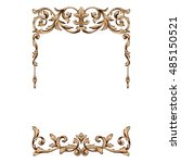 vintage baroque frame scroll... | Shutterstock .eps vector #485150521