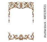 vintage baroque frame scroll... | Shutterstock .eps vector #485150521