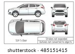 car sedan and suv drawing... | Shutterstock .eps vector #485151415