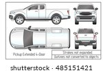 car sedan and suv drawing... | Shutterstock .eps vector #485151421