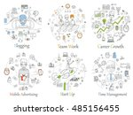 doodle line design of web... | Shutterstock .eps vector #485156455