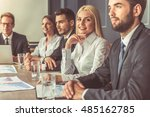 business people in formal wear... | Shutterstock . vector #485162785