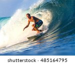 picture of surfing a wave... | Shutterstock . vector #485164795