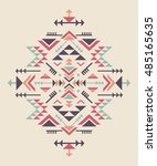 set of three colorful ethnic... | Shutterstock .eps vector #485165635