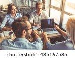 business people in smart casual ...   Shutterstock . vector #485167585