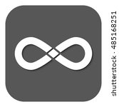 the infinity icon. infinity... | Shutterstock . vector #485168251